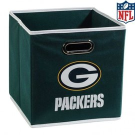 Franklin Sports Green Bay Packers 11x10.5x10.5 Collapsible Storage Bin