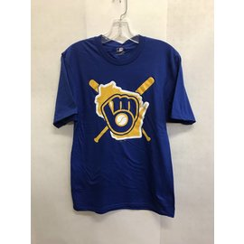 Milwaukee Brewers Men's Hometown State/Bat & Ball Short Sleeve Tee