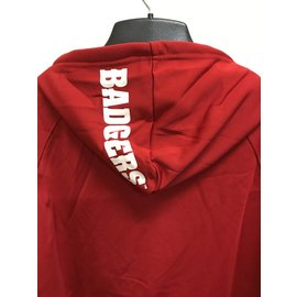 Wisconsin Badgers Men's Red Poly Pullover Hoodie