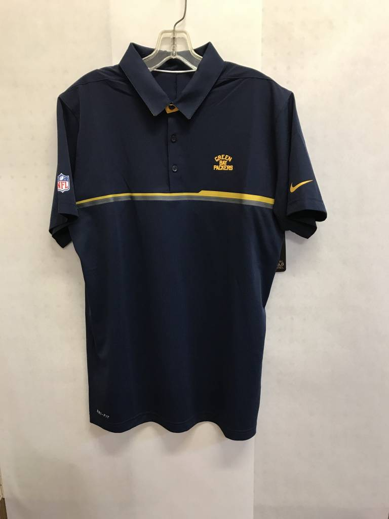 Green Bay Packers Mens Acme Sideline Polo Packerland Plus