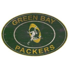 Green Bay Packers 46 Inch Oval Heritage Logo Sign