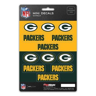 Green Bay Packers Mini Decals 12 Pack