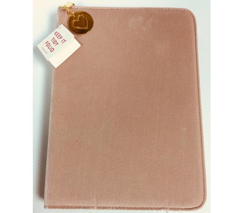 Folio Organizer - Pink Velvet