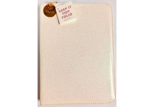 Folio Organizer - White Glitter