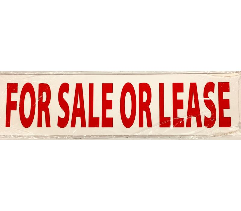 Sign STICKERS - SALE OR LEASE - 10 Pk