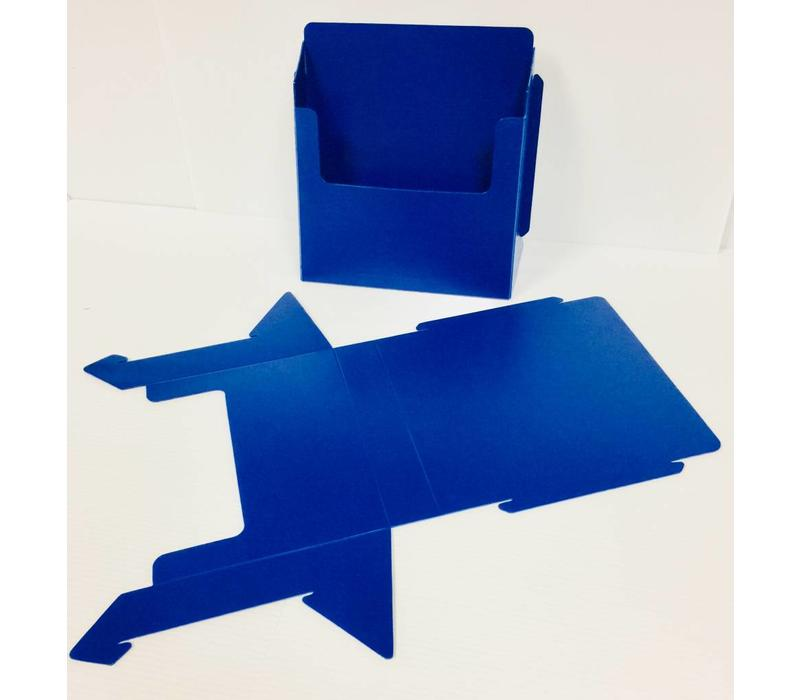 Flyer Holder - Folding - Blue