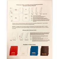 Flyer Holder - Folding - White