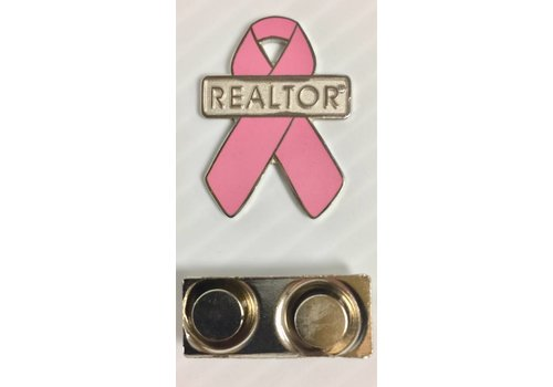 Realtor R Pin - Ribbon - Pink