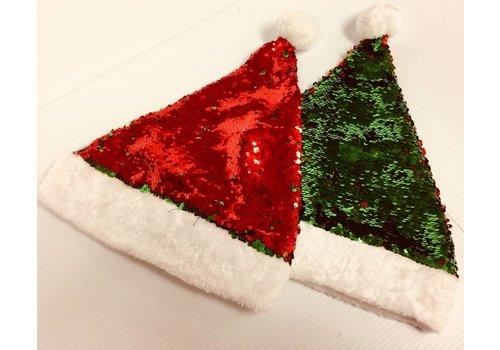 Santa Hat - Sequin Reversable