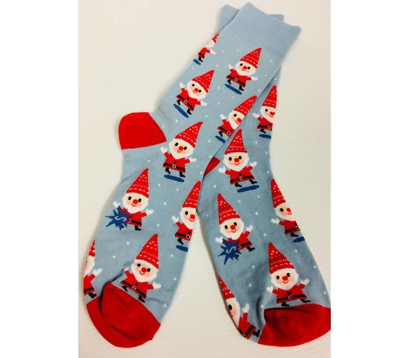 Socks - Men's Crew - Santa Gnome
