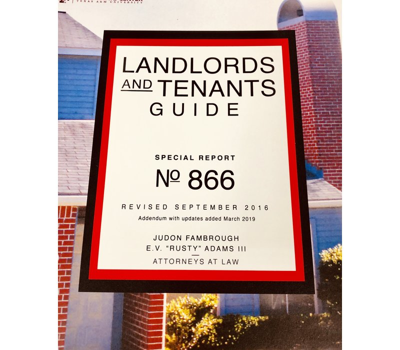 Landlords and Tenants Guide-March 2019