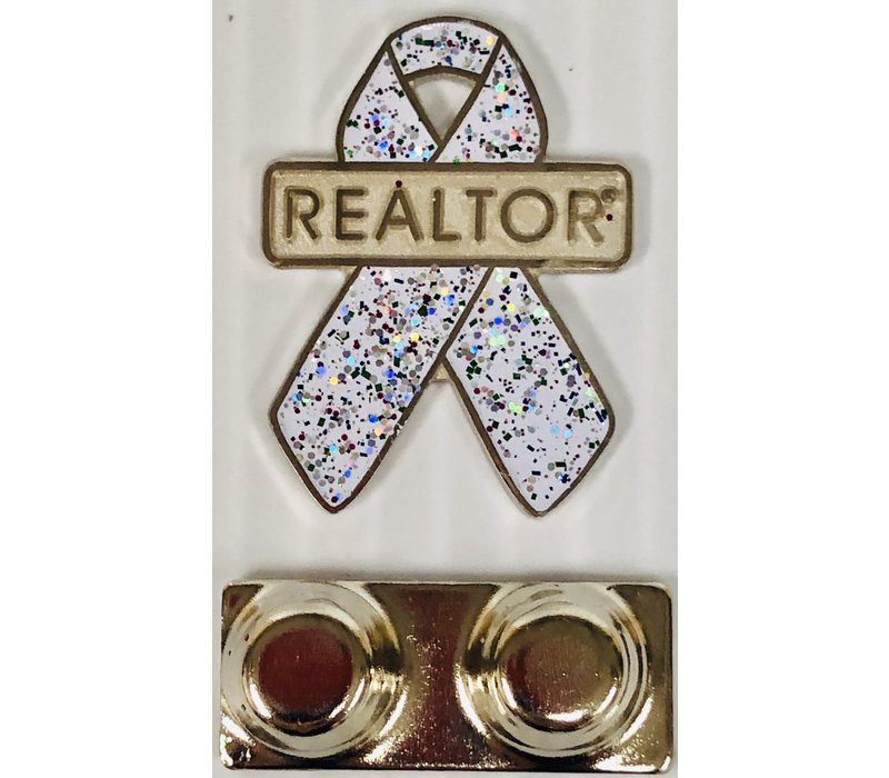 Realtor R Pin - Ribbon - Awareness