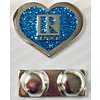 Realtor R Pin - Heart - Blue Glitter