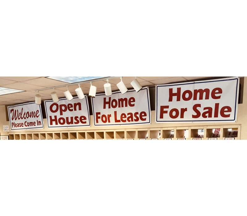 "Banner - 30"" X 60"" - Home For Lease"