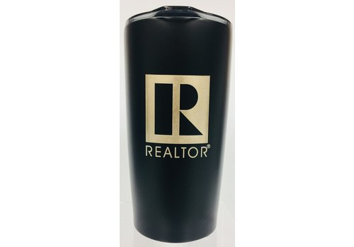 Realtor R Tumbler - Metal - 20 Oz - Matte Black