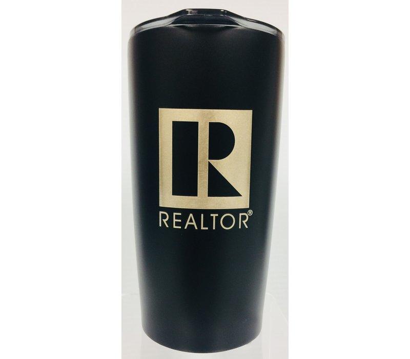 Realtor R Tumbler - Metal - 20 Oz - Matte Black