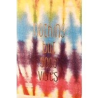 Journal - Good Vibes - Lg - Tie Dye