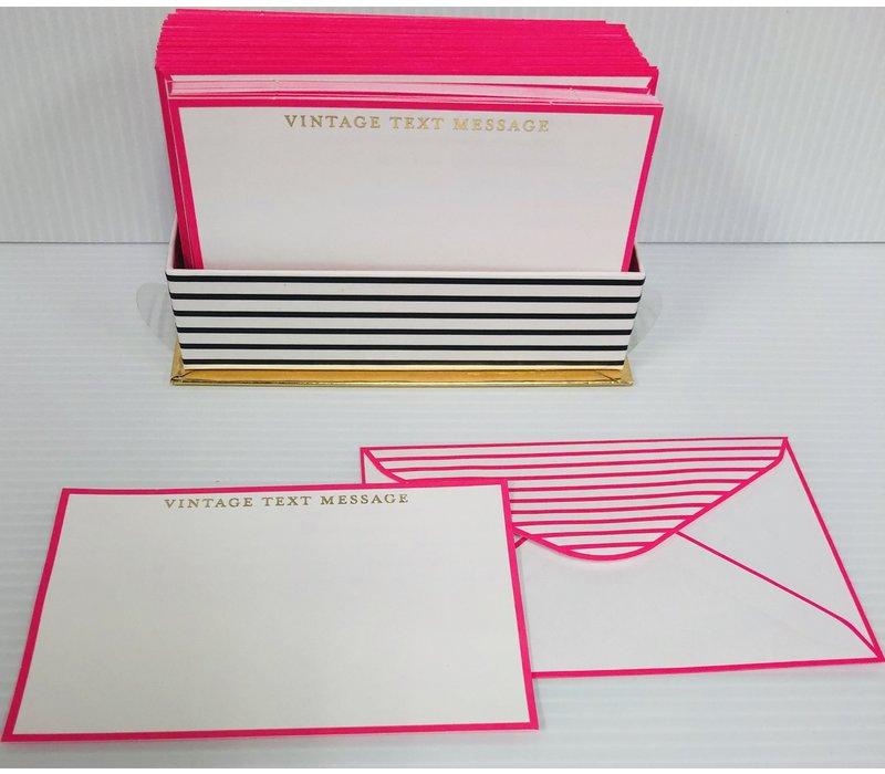 Flat Notes - Vintage Text