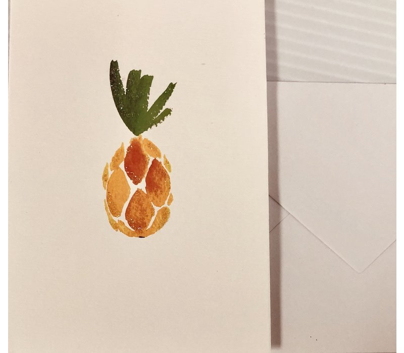 Cards - Le Petite - Watercolor Pineapple