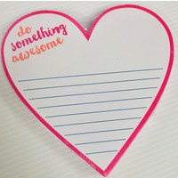 Notepad - Die Cut - Awesome Heart
