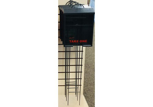 Flyer Box - On Lawn Stake - Black