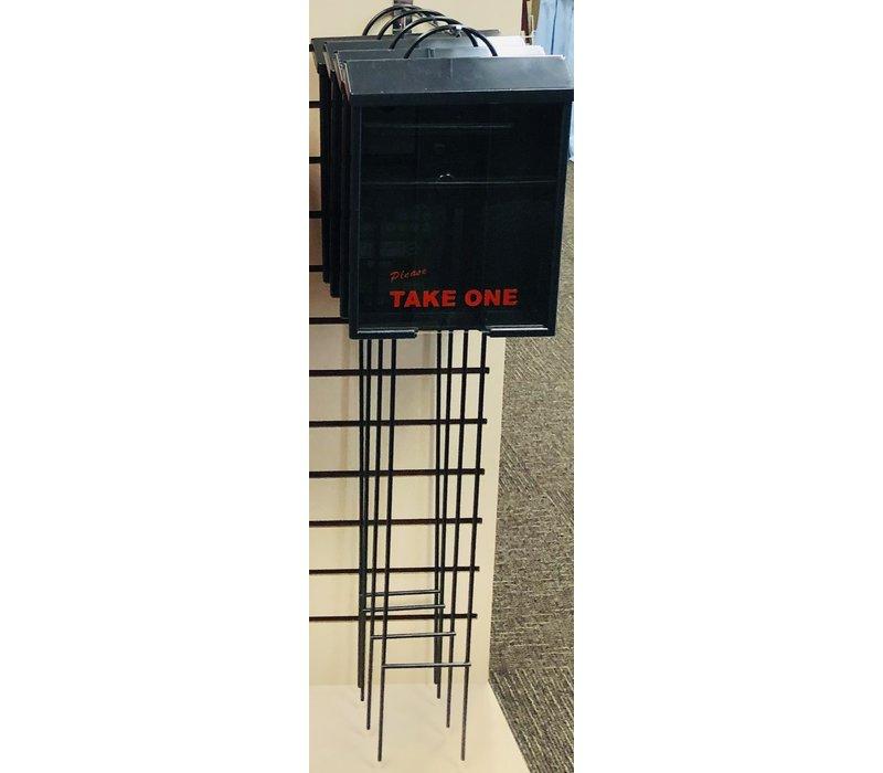 Flyer Box - On Lawn Stake - Black