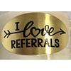 Stickers - Oval - Gold - I Love Referrals