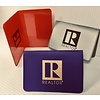 """R"" Plastic Business Card Holder -"