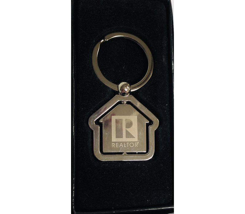 Realtor R Key Chain - House - Spindle