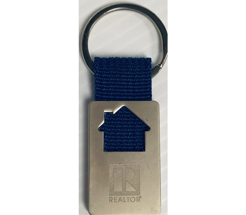 Realtor R Key Chain Blue - House