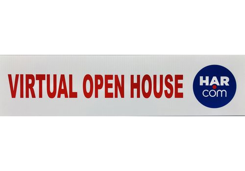"Sign Rider - 6"" x 24"" - VIRTUAL OPEN HOUSE"