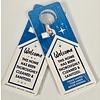 Door Hangers - Sanitized Home - 25 Pk