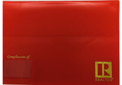 Closing/Document Pouch - R - Red