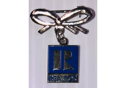 Realtor R Pin w/Bow -  Silver