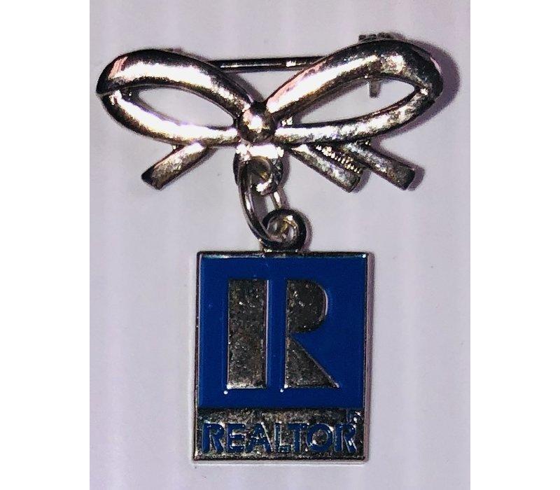 Realtor R Pin w/Bow -  Silver