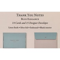 Cards - Thank You - Blue Elegance
