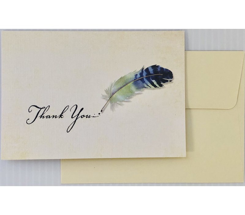 Cards - Thank You - Watercolor Quill