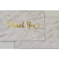 Cards - Thank You - Marble