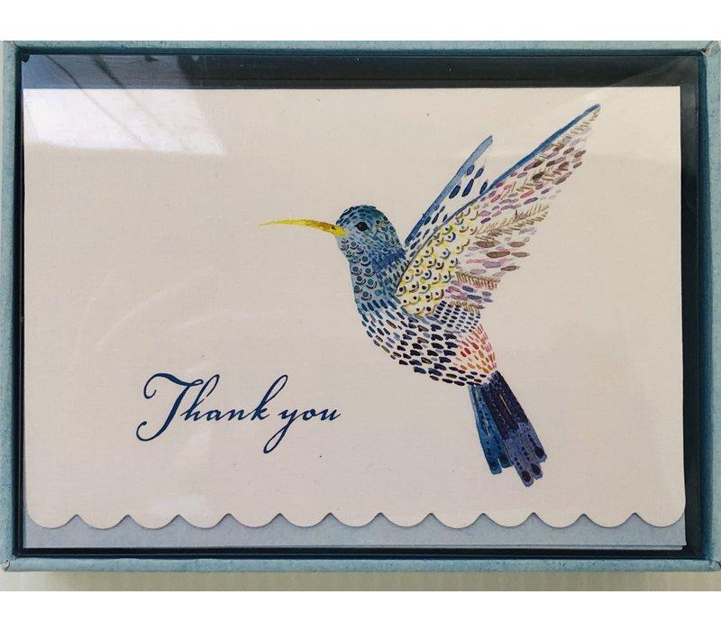 Cards - Thank You - Hummingbird