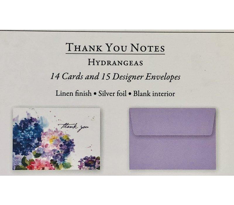 Cards - Thank You - Hydrangeas