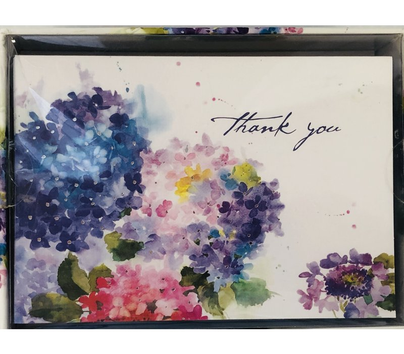Cards - Thank You - Hydrangeas
