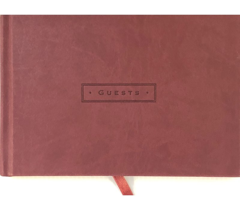 Guest Book - Burgundy