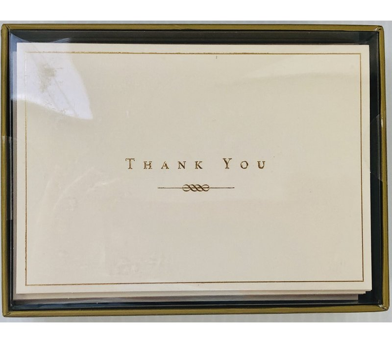 Cards - Thank You - Gold & Cream