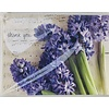 Cards - Thank You - Purple Floral
