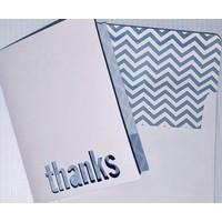 Cards - Thanks - Die Cut