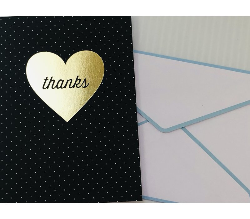 Cards - Thank You - Gold Heart