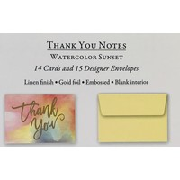 Cards - Thank You - Watercolor Sunset