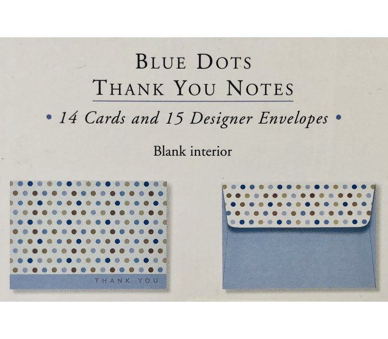 Cards - Thank You - Blue Dots