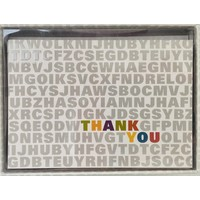 Cards - Thank You - Alphabet