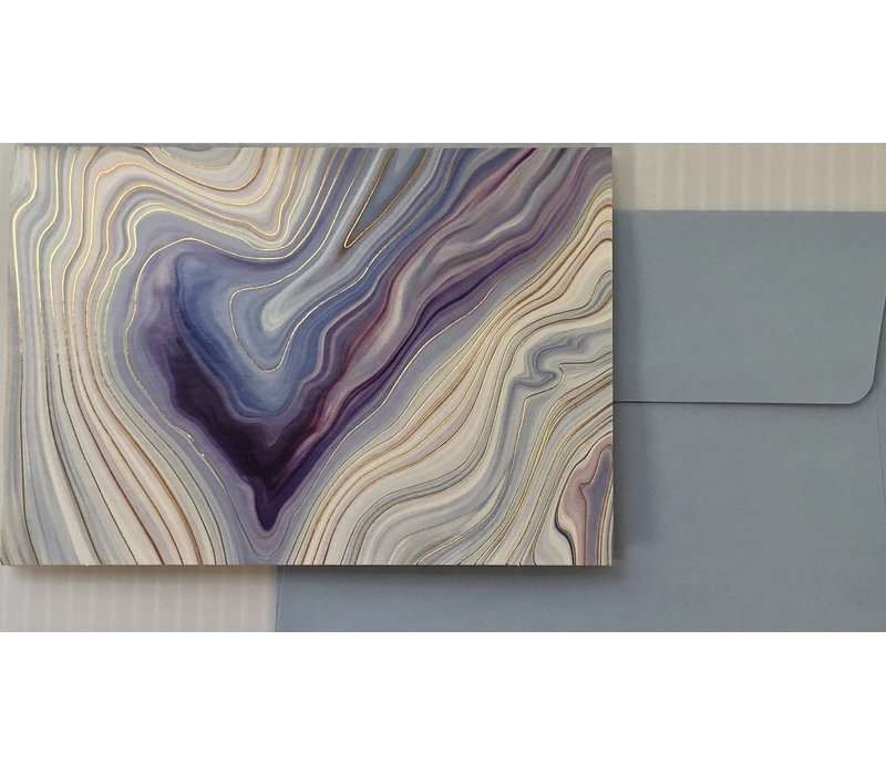 Cards - Boxed Note - Blue Agate